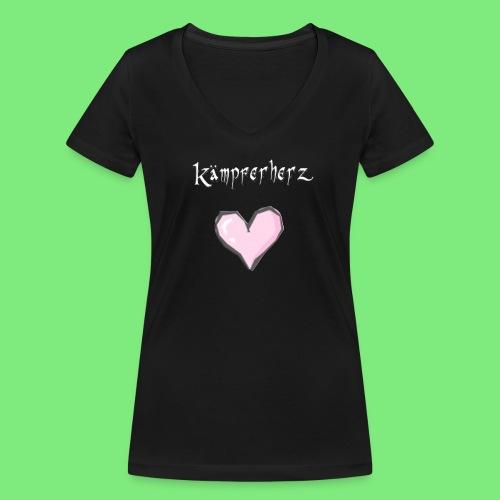 Kämpferherz Schafi - T-Shirt weibchen - Frauen Bio-T-Shirt mit V-Ausschnitt von Stanley & Stella