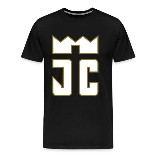 JC Men T-Shirt black/white-goldline - Männer Premium T-Shirt