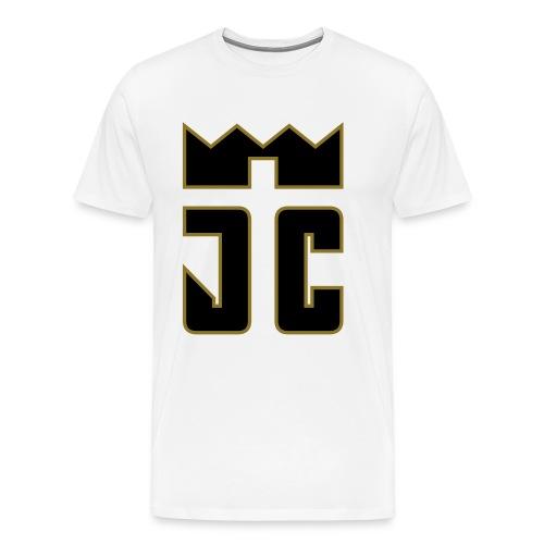 JC Men T-Shirt white/black-goldline - Männer Premium T-Shirt