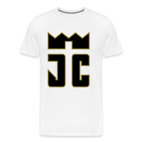 JC Men T-Shirt white/black-goldline - Männer Premium T-Shirt