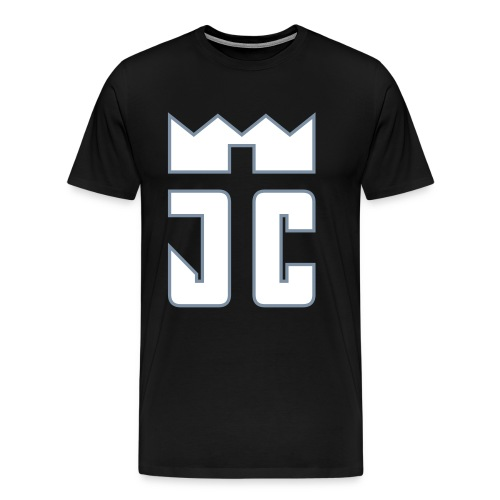 JC Men T-Shirt black/white-silverline - Männer Premium T-Shirt