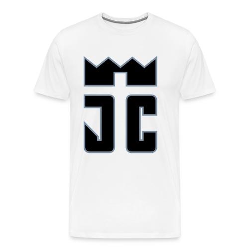 JC Men T-Shirt white/black-silverline - Männer Premium T-Shirt