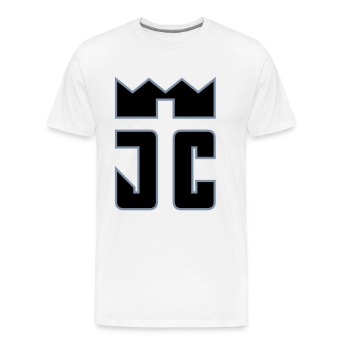 JC Men T-Shirt white/black-silverline - Männer Premium T-Shirt