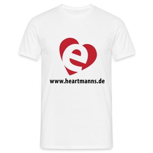 Herren-T-Shirt weiß mit E-Herz - Männer T-Shirt