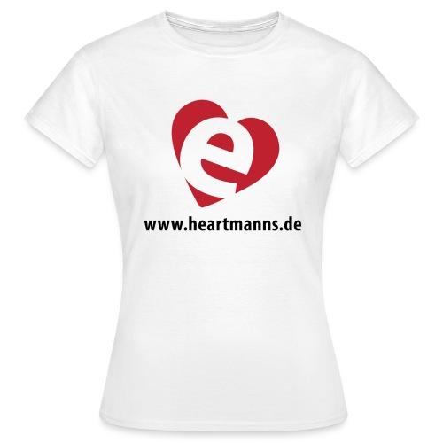 Damen-T-Shirt weiß mit E-Herz - Frauen T-Shirt