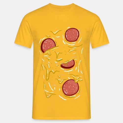 Pizza Salami - Männer T-Shirt