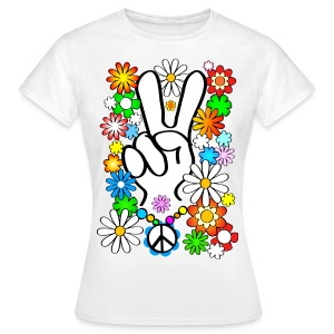 Flower Power & PEACE - Women's T-Shirt