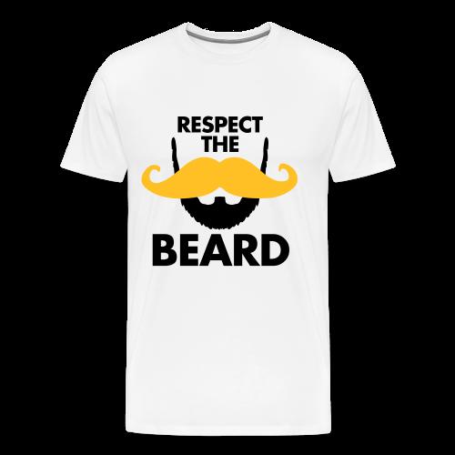 Respect The Beard T Shirt - Men's Premium T-Shirt