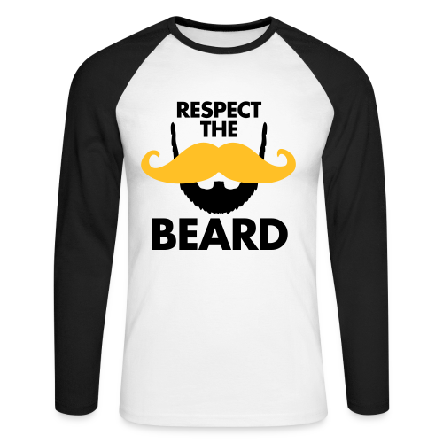 Respect The Beard Long-sleaved Baseball Shirt - Men's Long Sleeve Baseball T-Shirt