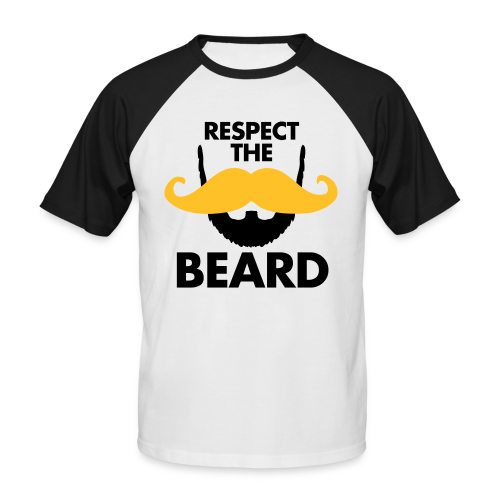Respect The Beard Baseball Shirt - Men's Baseball T-Shirt