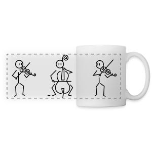 Trio (2 violins, 1 cello) - Panoramic Mug