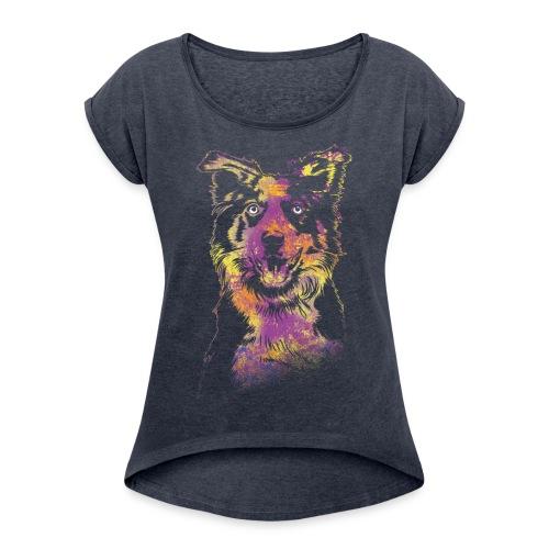 CollieStyle - Frauen T-Shirt mit gerollten Ärmeln