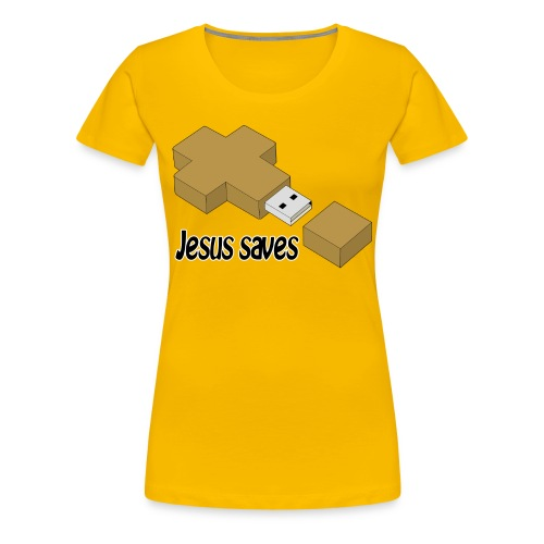 Jesus saves - Frauen Premium T-Shirt