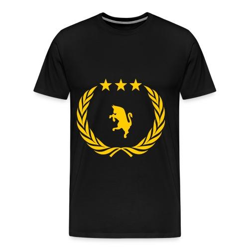 T-shirt nera STEMMA JUVENTUS - Maglietta Premium da uomo