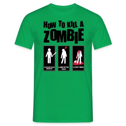 Zombie instruction - Männer T-Shirt