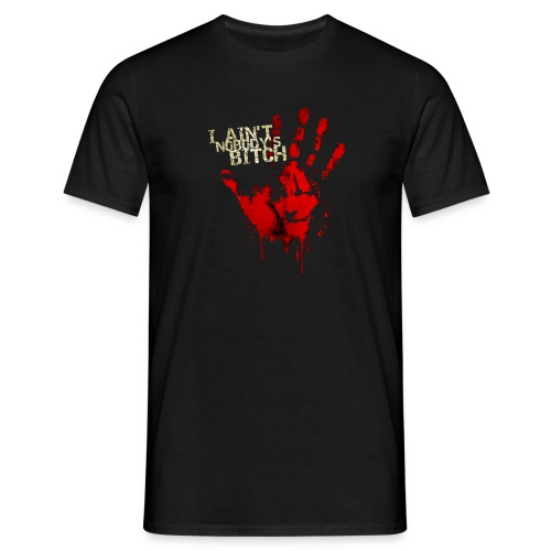 Männer T-Shirt - survivor,bitch,Zombieapokalypse,Zombie,Zitat,Walking Dead,Walker,Spruch,Halloween,Fanshirt,Dixon,Daryl,Blut