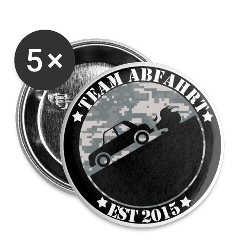 Button Team Abfahrt - Buttons klein 25 mm (5er Pack)