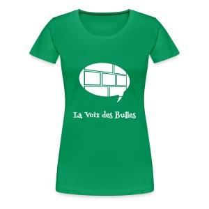 T-shirt Premium Femme - Le t-shirt officiel de la Voix des Bulles !