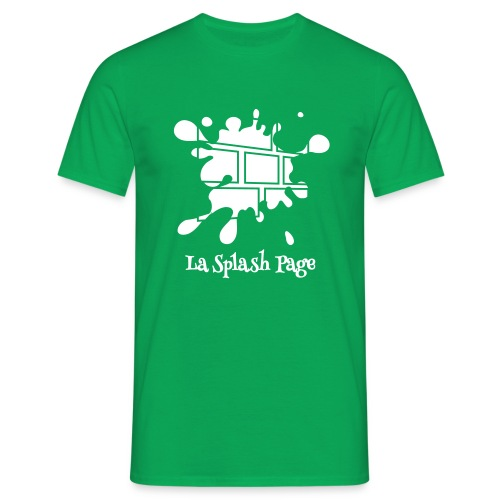 T-shirt Homme - Le t-shirt officiel de la Splash Page, un podcast de La Voix des Bulles !
