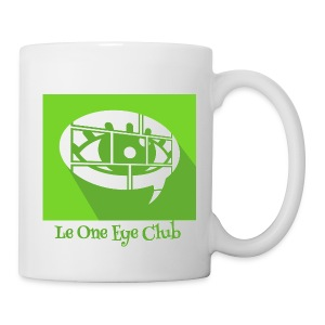 Mug blanc - Le mug officiel du One Eye Club, un podcast de La Voix des Bulles !