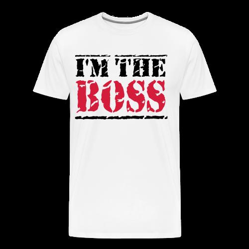 The Boss-Schwarz/ Rot - Männer Premium T-Shirt
