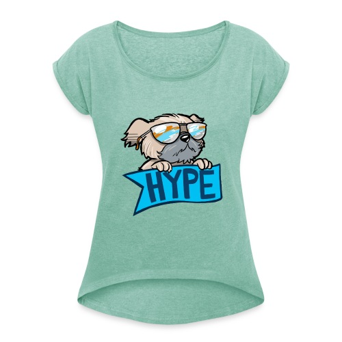 P4WNYHYPE FEMALE - Women's T-Shirt with rolled up sleeves