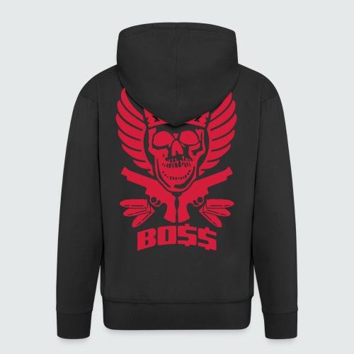 Skull Boss / Rot - Männer Premium Kapuzenjacke