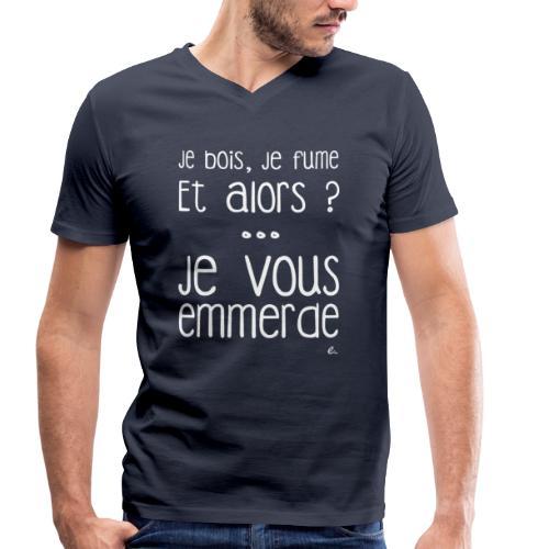 T-Shirt Homme Je bois, je fume - T-shirt bio col V Stanley & Stella Homme