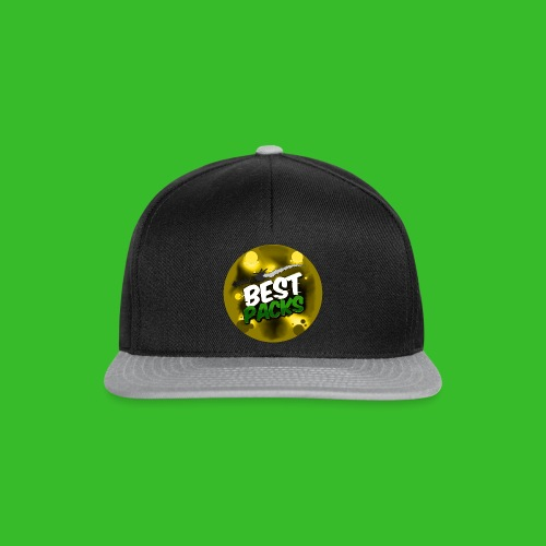 Yellow Pack Nation Grey Bare Hat - Snapback Cap