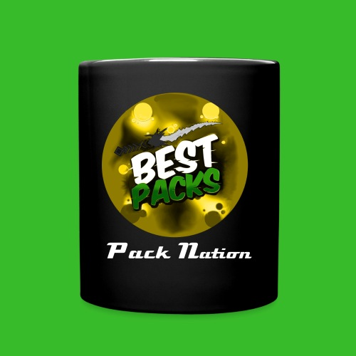 Vivid Jet Black Cup - With Reverse Pack Nation Logo- - Full Colour Mug