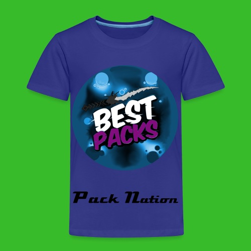 Limited Blue Shift With Rare Blue Pack Nation Logo  - Kids' Premium T-Shirt