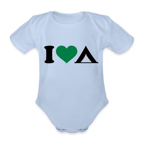 Body neonato campeggio - Body ecologico per neonato a manica corta