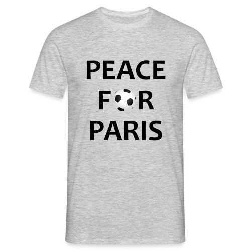 Football Shirt Peace for Paris grey - Men's T-Shirt