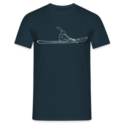 Seekajak weiße Kontur - Männer T-Shirt