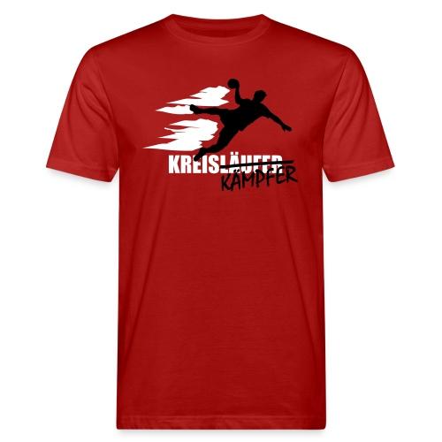 Kreiskämpfer schwarz/weiß - Männer Bio-T-Shirt