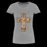 T-Shirts ~ Women's Premium T-Shirt ~ CAMO CROSS