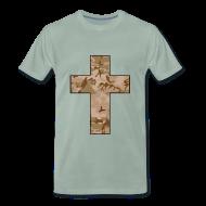 T-Shirts ~ Men's Premium T-Shirt ~ CAMO CROSS