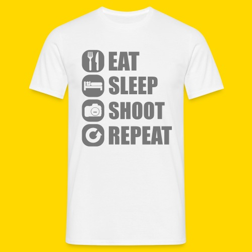 Eat, Sleep, Shoot, Repeat T-Shirt Männer - Männer T-Shirt