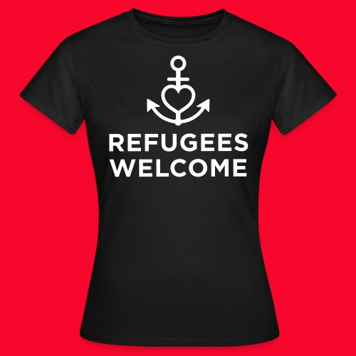 Refugees Welcome - Frauen T-Shirt
