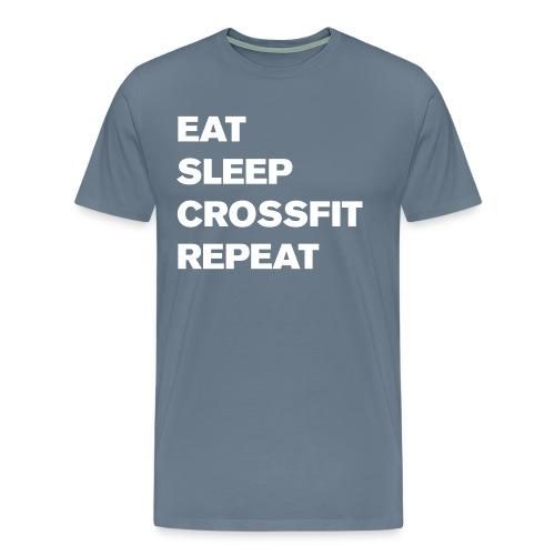 eat sleep crossfit repeat t-shirt - Men's Premium T-Shirt