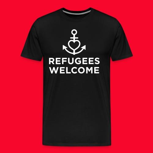 Refugees Welcome - Männer Premium T-Shirt
