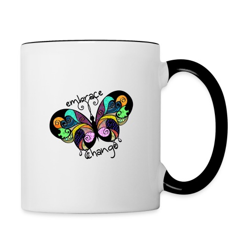 Embrace Change - Contrasting Mug