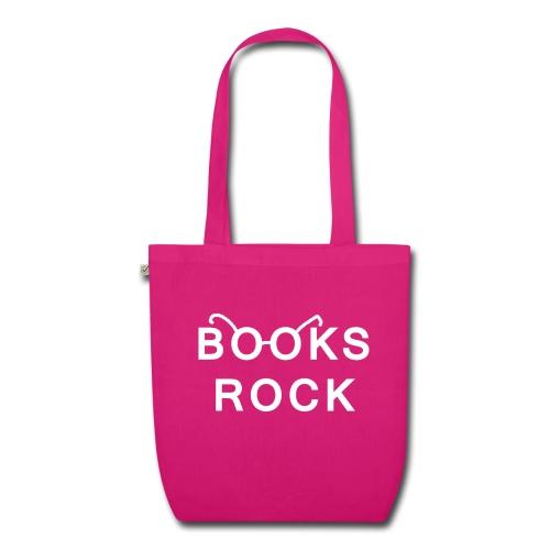 Books Rock White Glasses Earth Positive Tote Bag   - EarthPositive Tote Bag