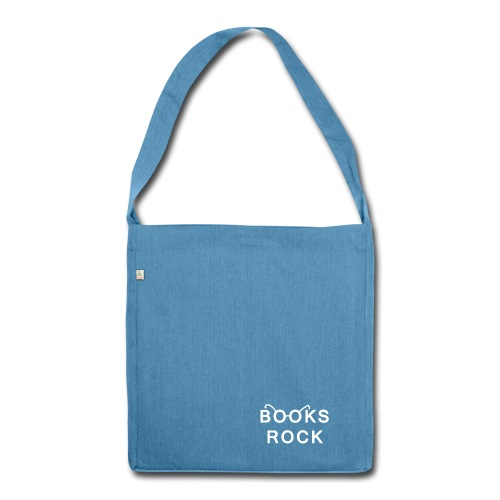 Books Rock Shoulder Bag made from Recycled Material - Shoulder Bag made from recycled material