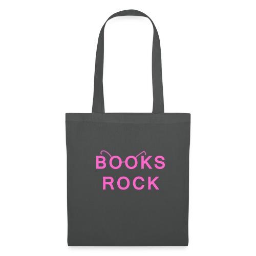 Books Rock Pink Glasses Tote Bag  - Tote Bag