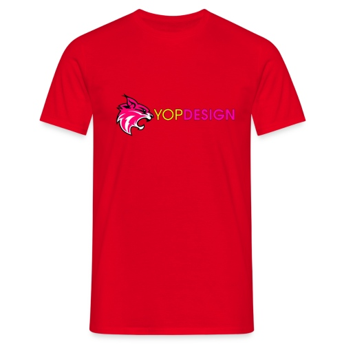 YopDesign male T-shirt red - T-shirt Homme