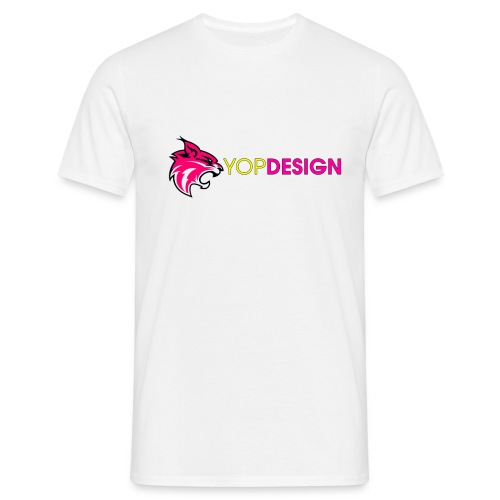 YopDesign male T-shirt white - T-shirt Homme