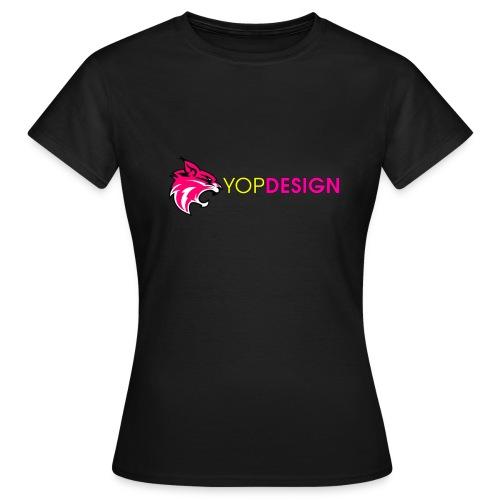YopDesign female T-shirt black - T-shirt Femme