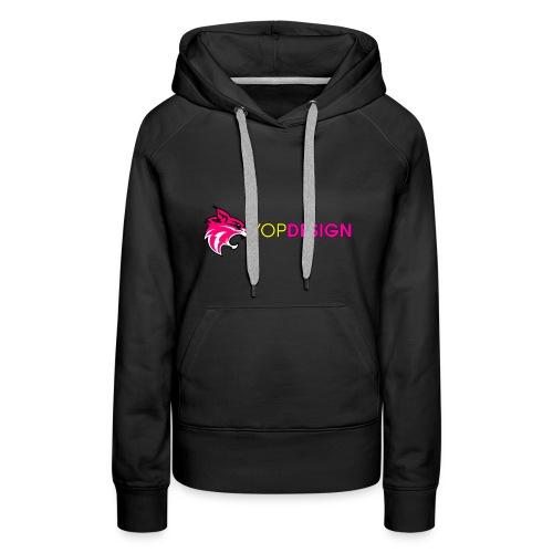 YopDesign female sweet-shirt black  - Sweat-shirt à capuche Premium pour femmes