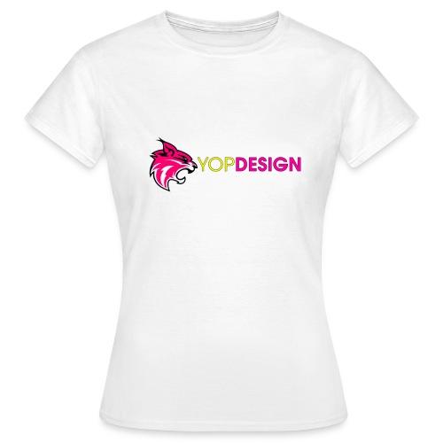 YopDesign female T-shirt white - T-shirt Femme